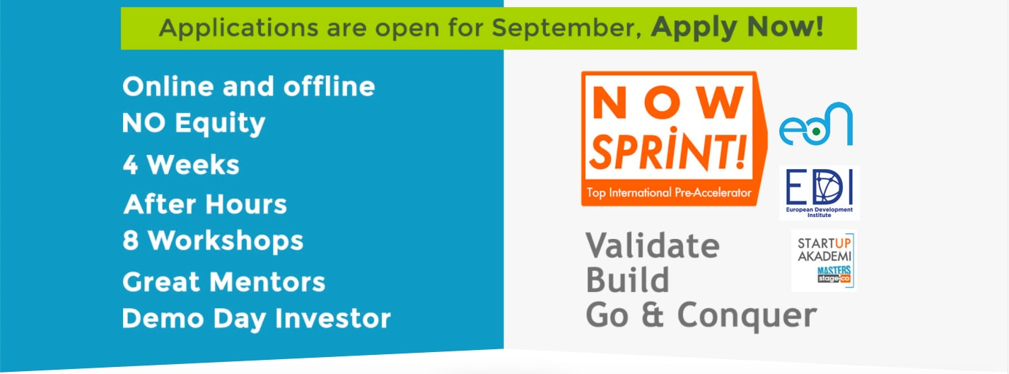Learn more about EDI & EDN's newest initiative 'Now Sprint! Accelerator Program'